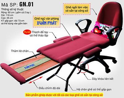 Ghế ngủ trưa văn phòng GN 01