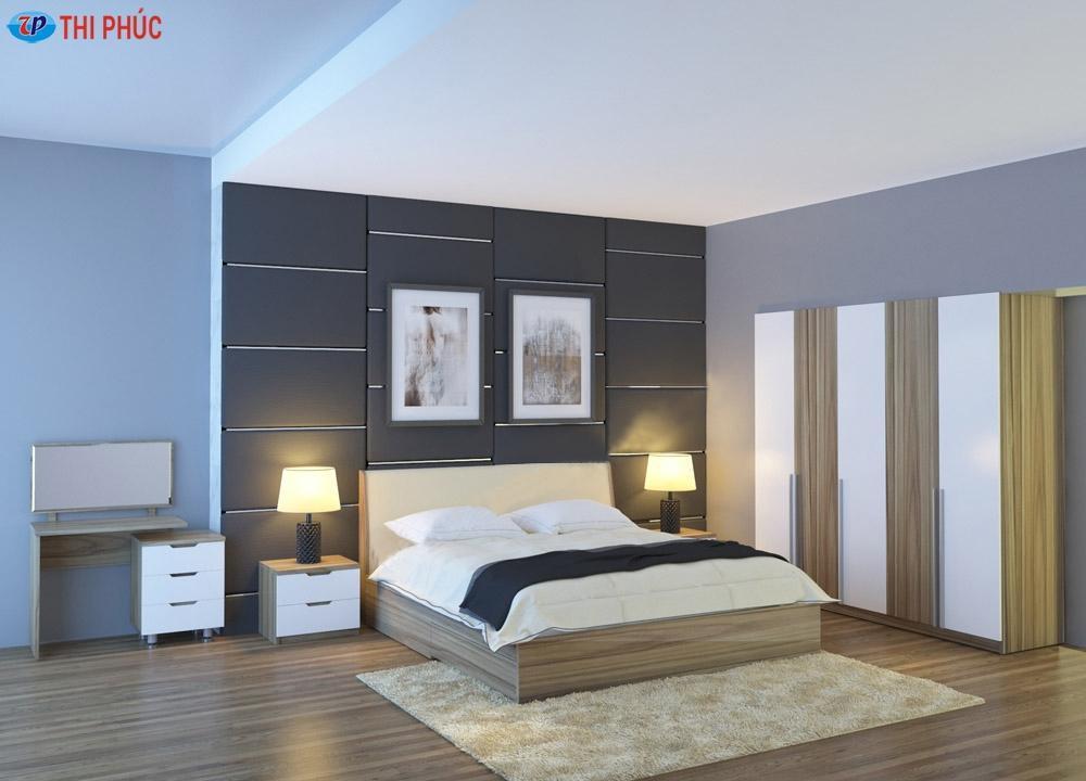 Bộ giường phòng ngủ gỗ GNE304